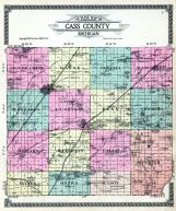 County Outline Map, Cass County 1914